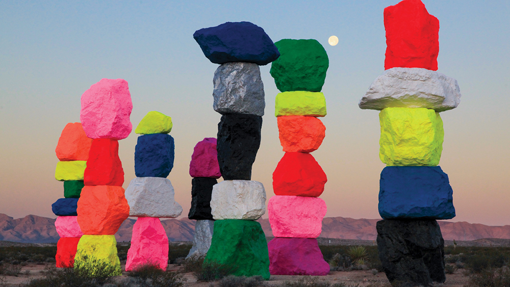 Ugo Rondinone's Seven Magic Mountains
