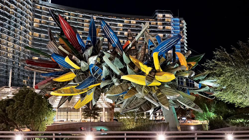 A sculpture by Nancy Rubins at the Vdara Hotel.