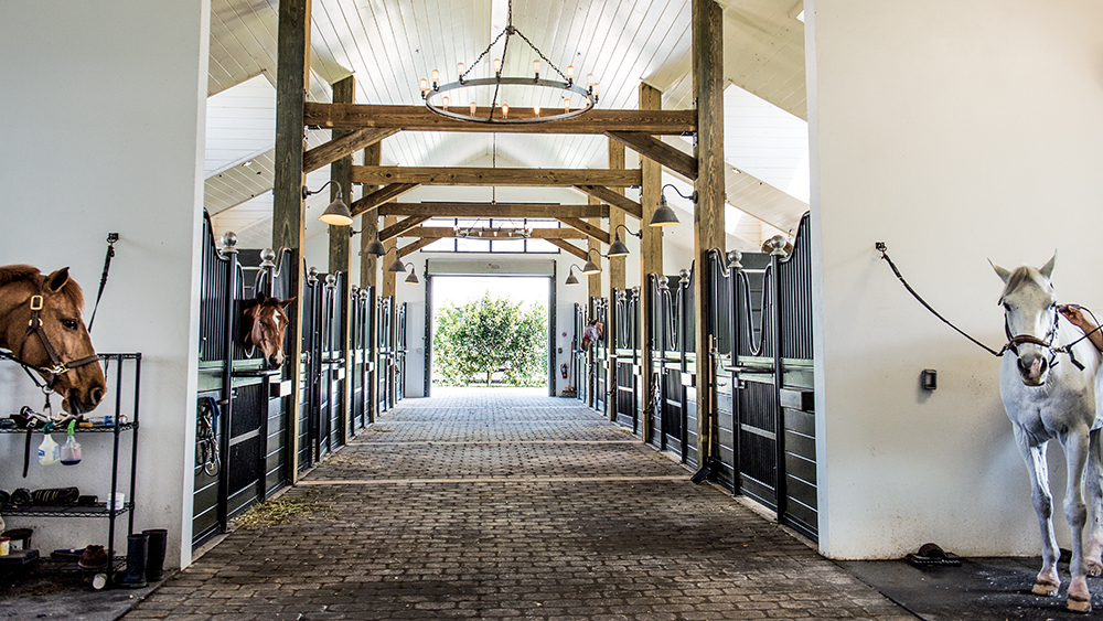 The stables at Ashland Farms in Wellington