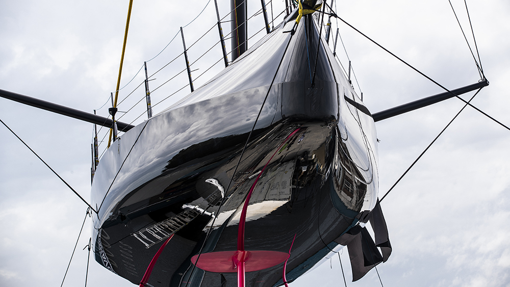 Alex Thomson Racing team's 60-foot racing yacht Hugo Boss
