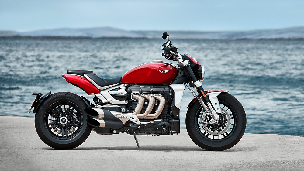 The 2020 Triumph Rocket 3 motorcycle.