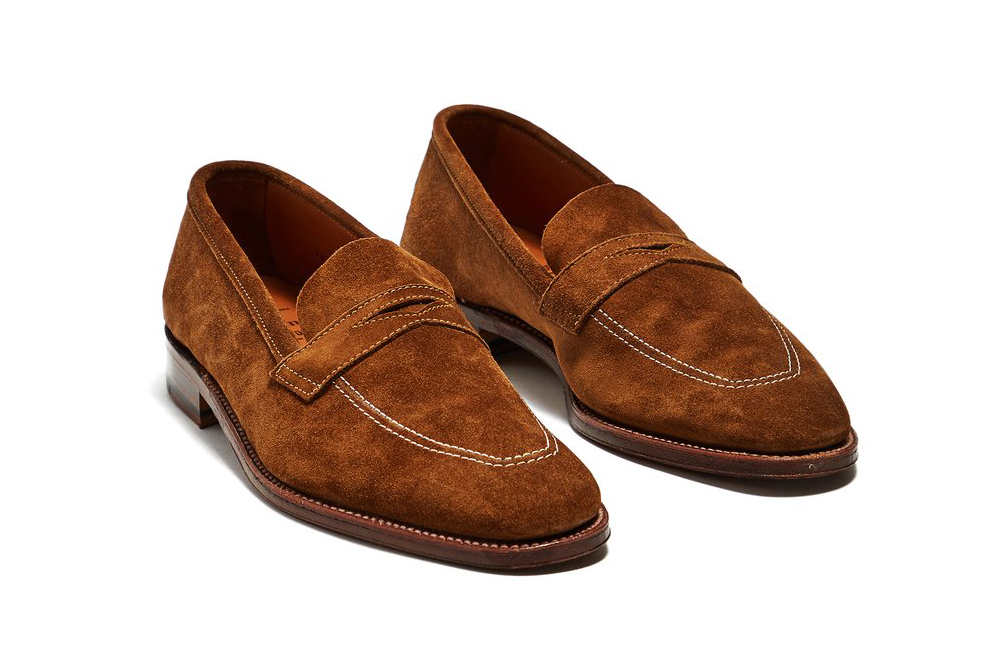Alden + Todd Snyder Snuff Suede Loafers