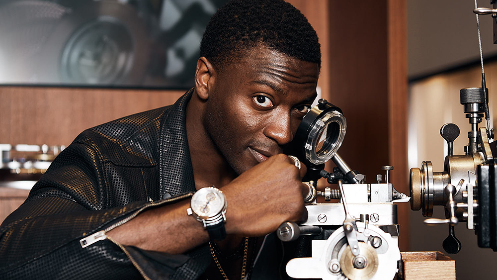 Actor and watchmaker Aldis Hodge