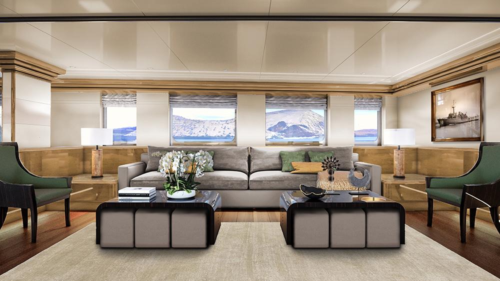 The Lounge on Aqua Expeditions long-range luxury yacht Aqua Blu