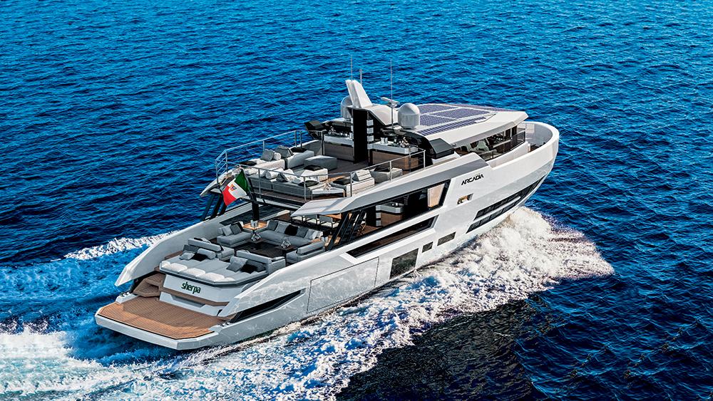Arcadia Yachts' 79-foot yacht Sherpa XL