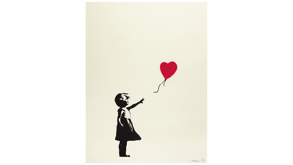 Banksy's Girl with Balloon, 2004