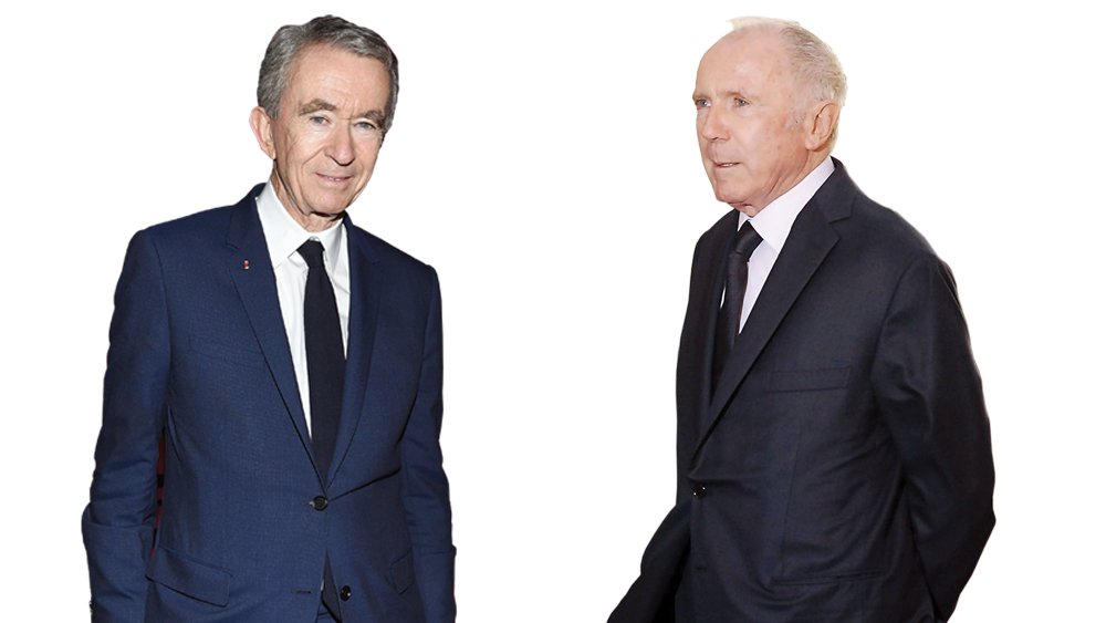Bernard Arnault and Francois Pinault