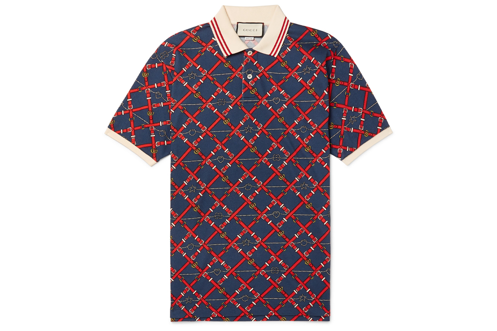 Gucci Printed Polo Shirt