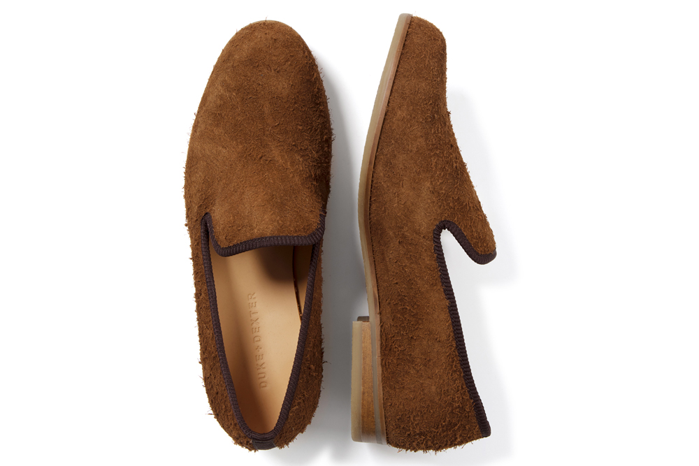 Duke and Dexter Hairy Suede Loafers
