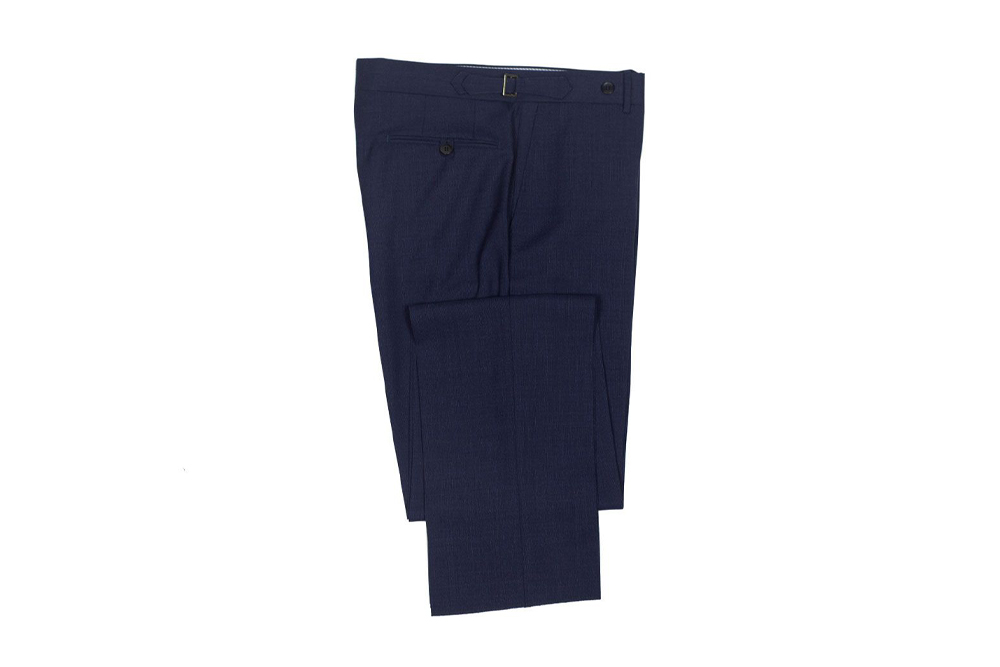 ROTA Higher-rise navy lightweight wool trousers