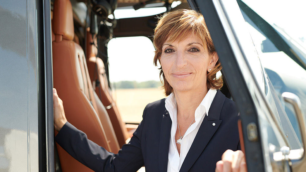 The CEO of Luxaviation Helicopters Charlotte Pedersen