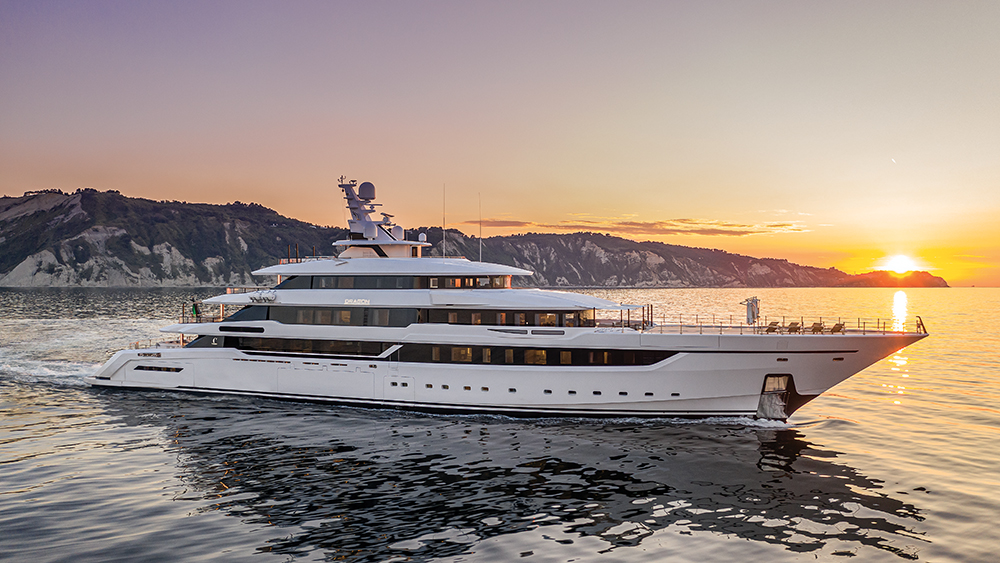 Columbus Yachts' new six-deck megayacht Dragon