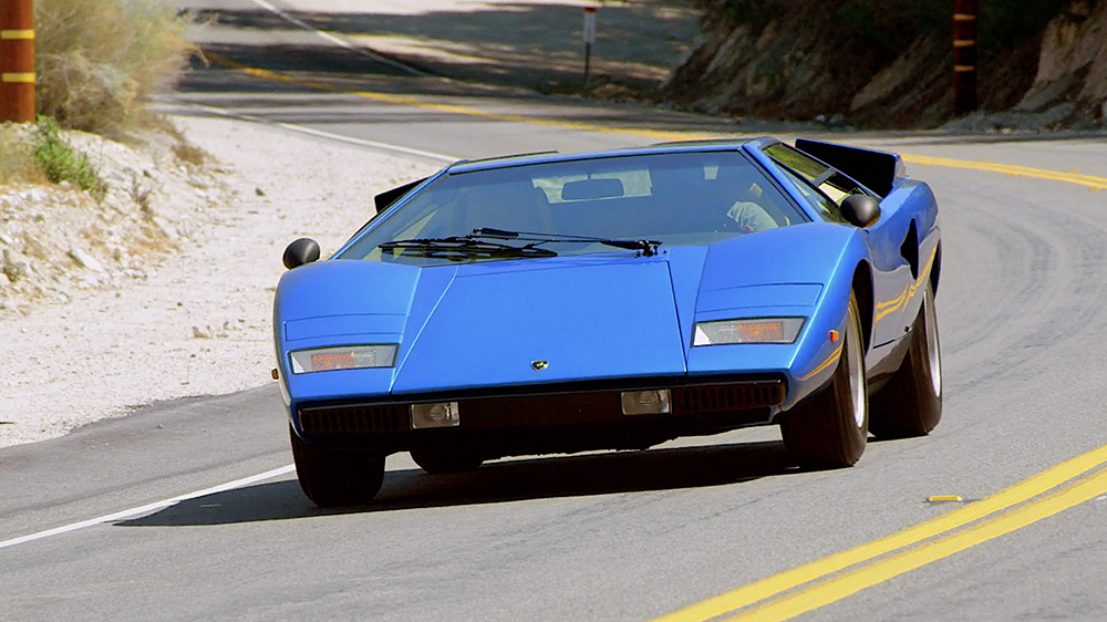 Comedians in Cars Getting Coffee Jerry Seinfeld, Jim Carrey and a 1976 Lamborghini Countach LP400
