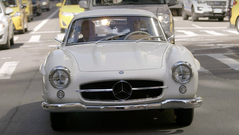 Comedians in Cars Getting Coffee Jerry Seinfeld, Lorne Michaels and a 1955 Mercedes-Benz 300SL Gullwing
