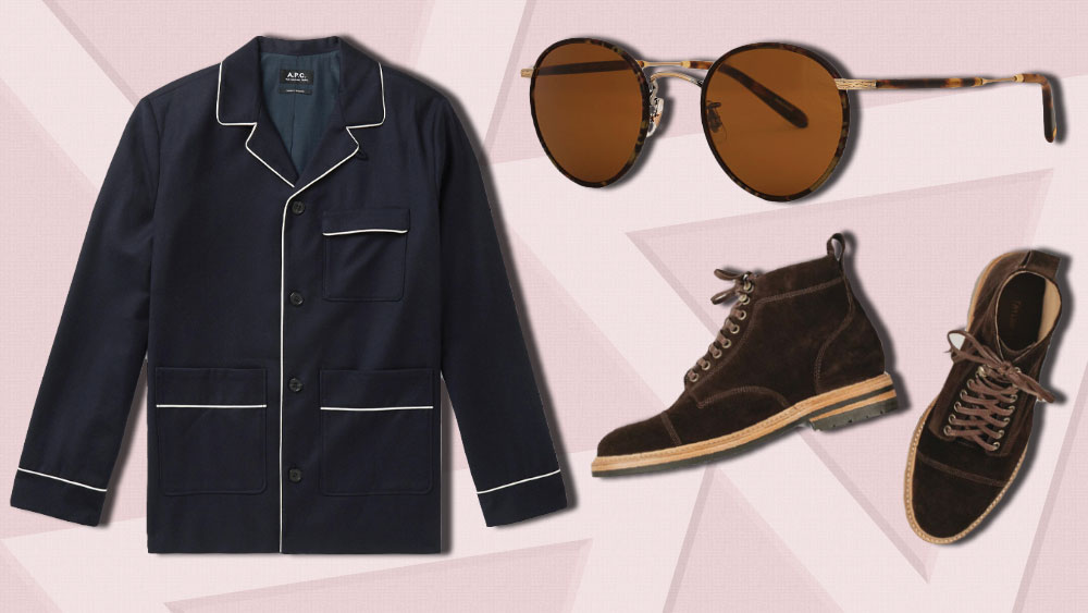 The best new menswear to buy this week includes a clever jacket from APC, sunglasses from Garrett Leight and a great pair of fall boots from Taylor Stitch.