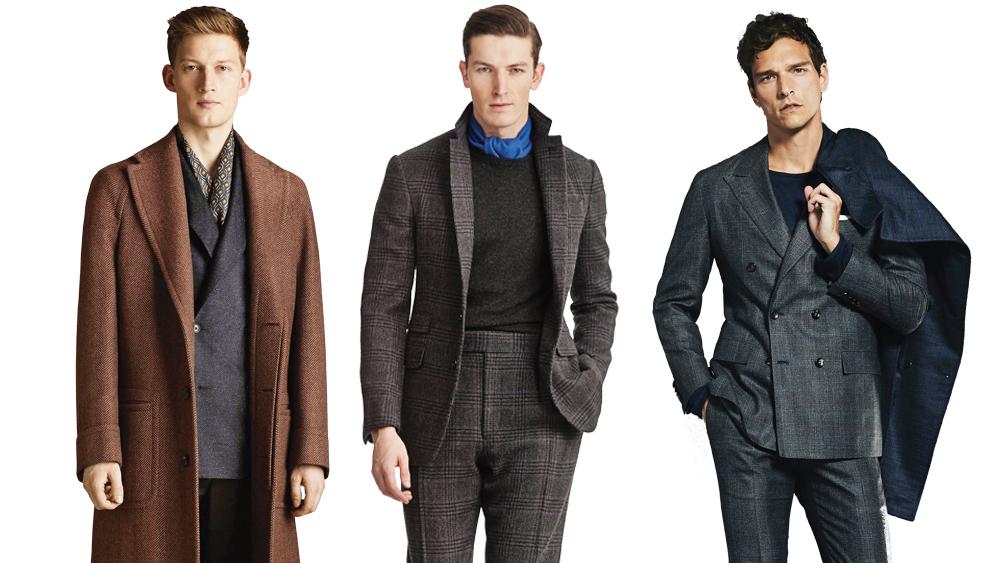Fall 2019 suits by Corneliani; Ralph Lauren Purple Label and Kiton