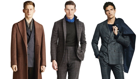 Fall 2019 suits by Corneliani; Ralph Lauren Purple Label and Kiton