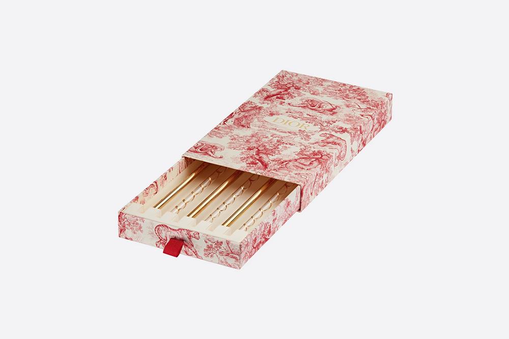 Dior's reusable glass straws.