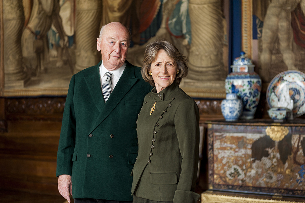 Peregrine and Amanda Cavendish, the current Duke and Duchess of Devonshire.