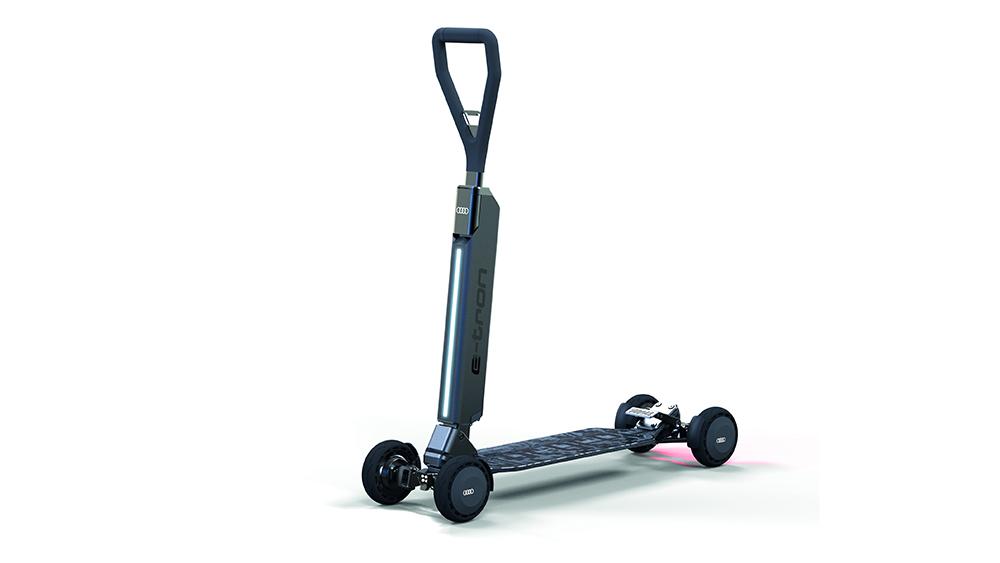 Audi's skateboard-like e-scooter, the e-tron