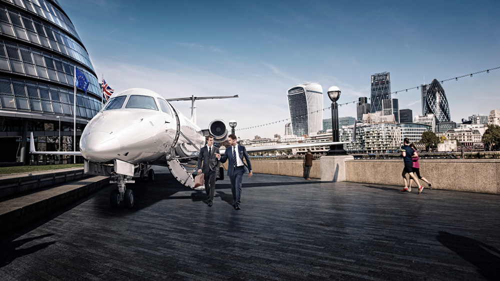Victor's European Business flight