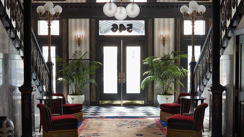 Foyer at New Orlean's Maison de la Luz