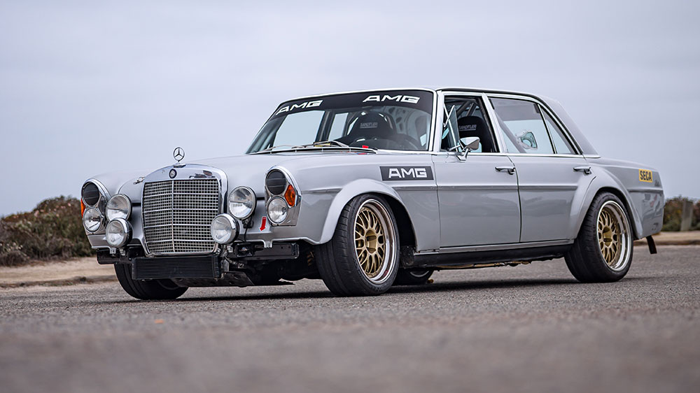 Mercedes-Benz 300 SEL AMG Red Pig Tribute