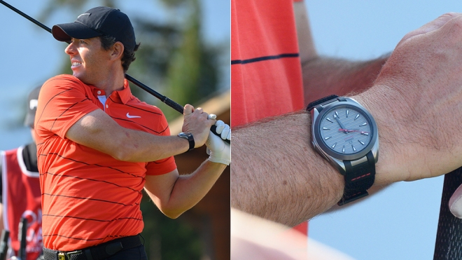 Rory McIlroy helped Omega design its new titanium golfing watch.
