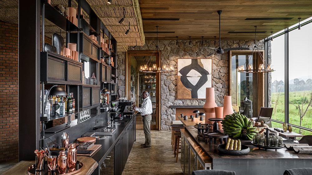 Singita Kwitonda lodge bar