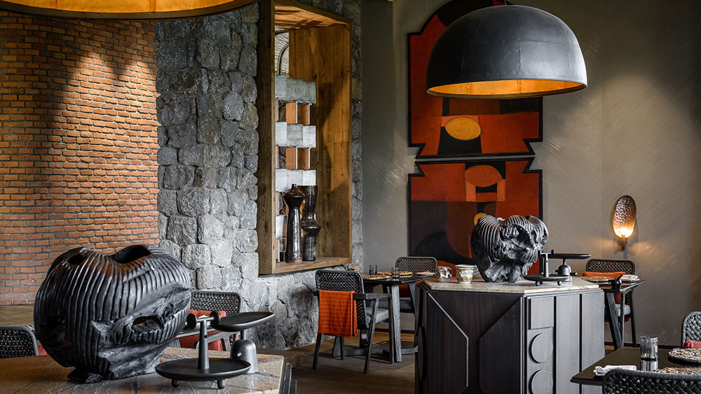 Singita Kwitonda lodge lounge