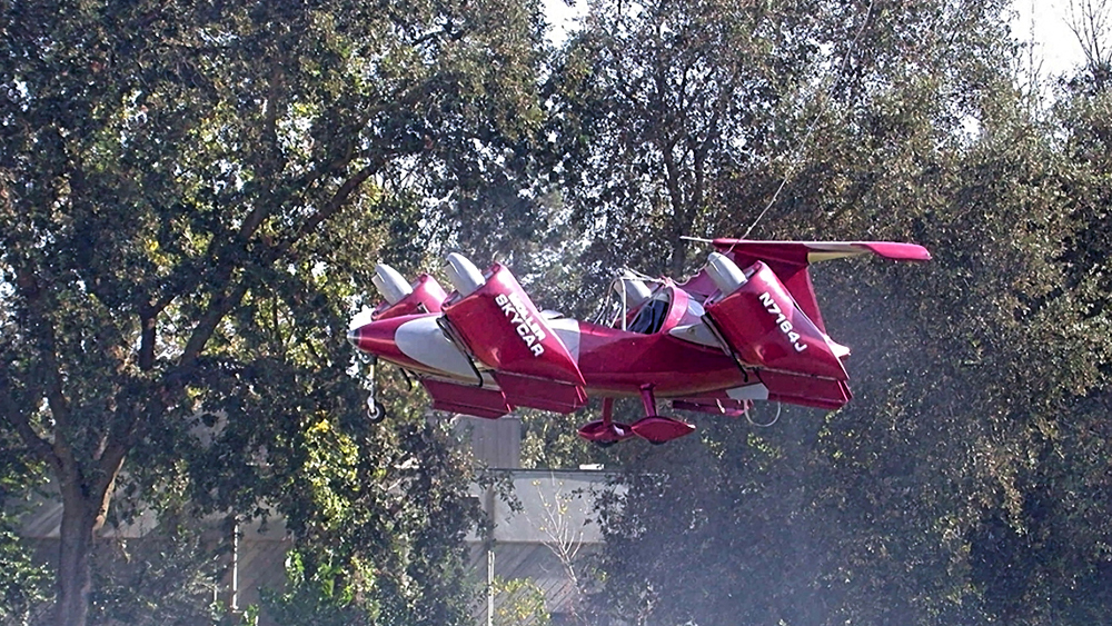 The Skycar gets airborne—sort of—in 2002.