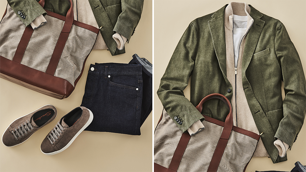 Boglioli wool travel jacket