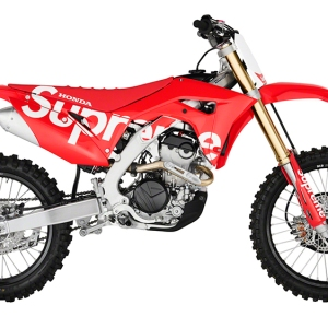 Supreme's fall 2019 accessories collection includes a Honda dirt bike.