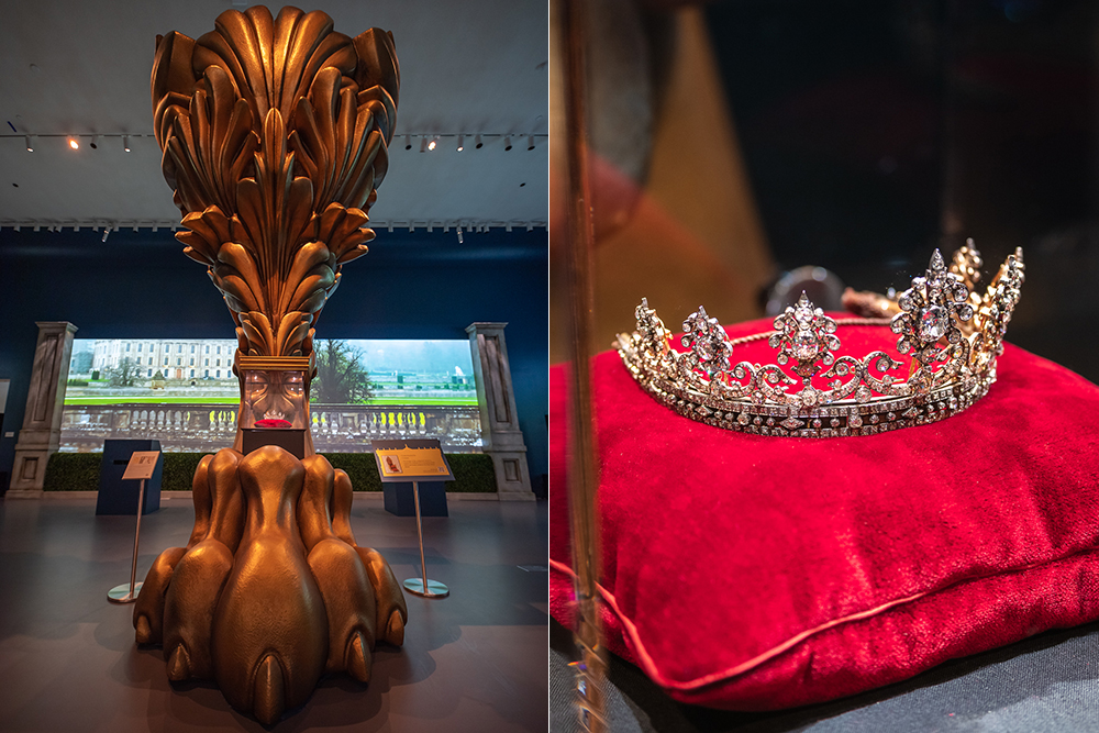 "The Devonshire Honeysuckle tiara takes center stage at Sotheby's exhibit ""Treasures from Chatsworth."""