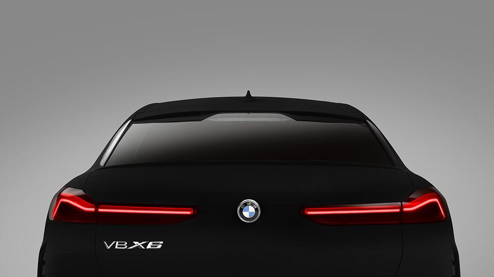 The 2020 BMW X6 in Vantablack VBx2