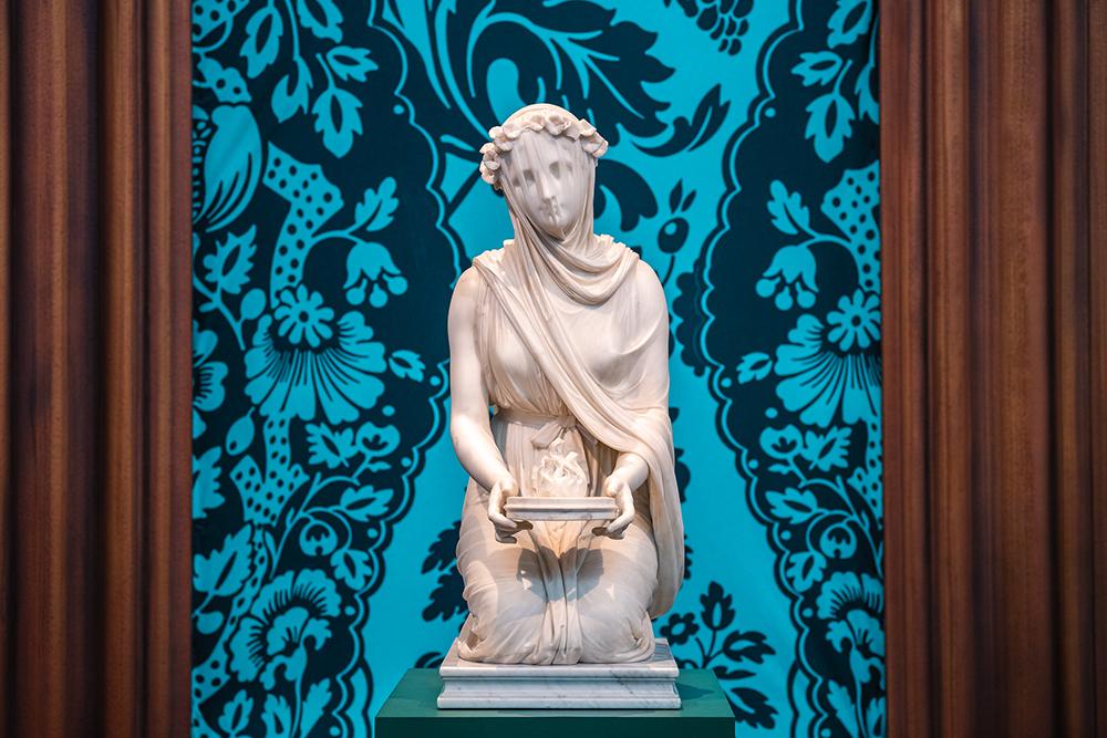 Raffaelle Monti's vestal virgin sculpture.