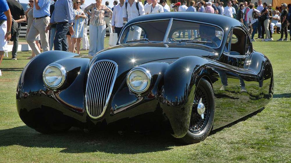 The 1953 Jaguar XK120 FHC restomod by Justin Hills.