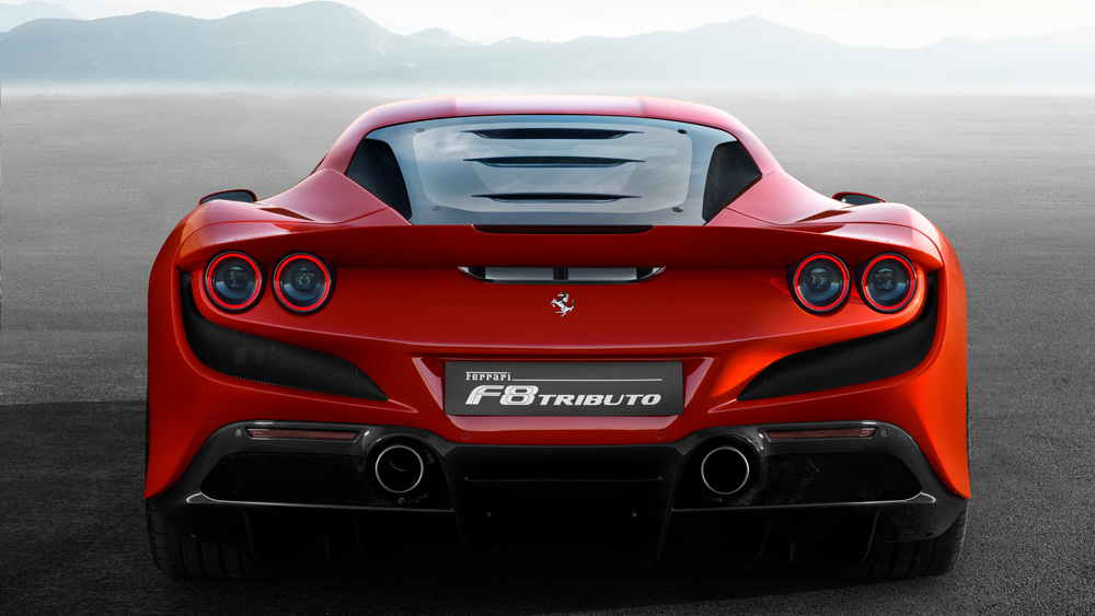 The Ferrari F8 Tributo.