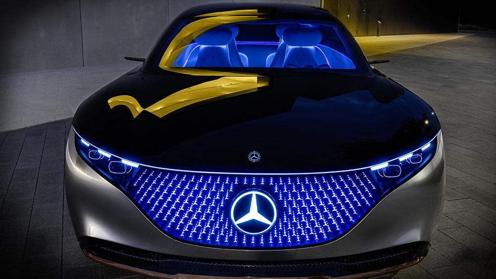 Mercedes-Benz Vision EQS electric sedan concept