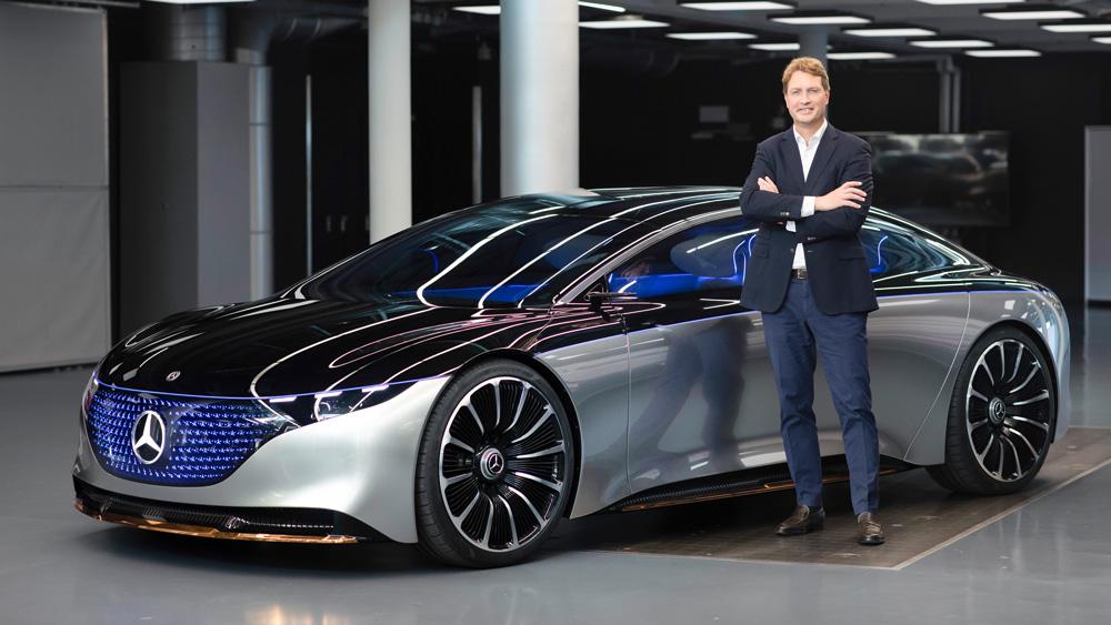 The Mercedes-Benz Vision EQS.