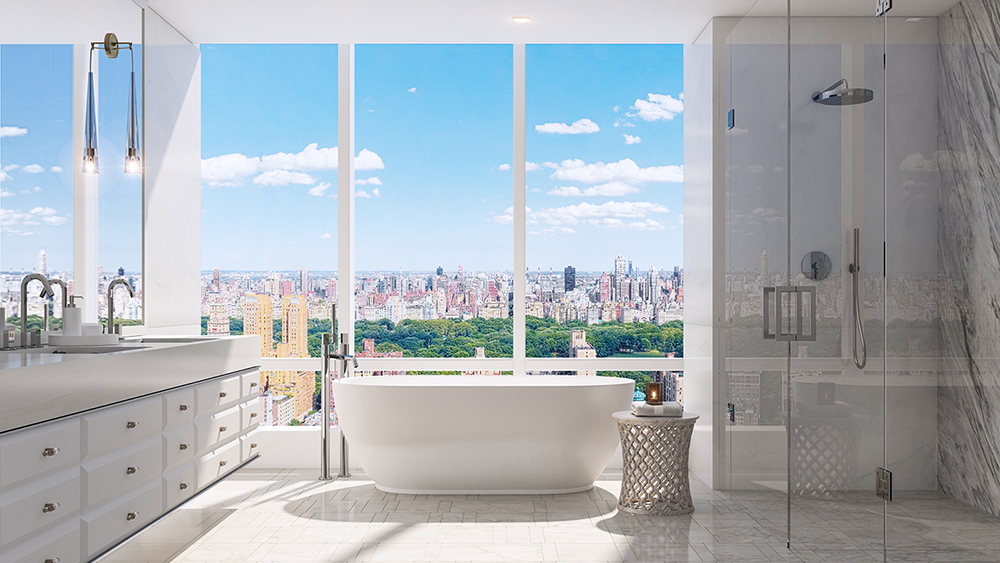 The bathroom at 200 Amsterdam in the Upper West Side of New York