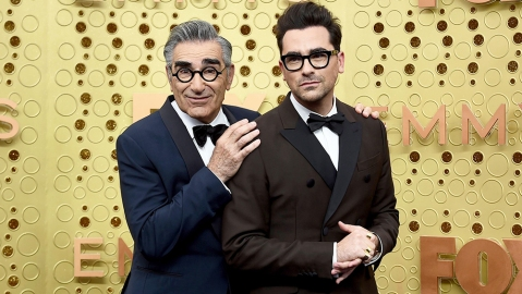 Eugene Levy, Daniel Levy. Eugene Levy, left, and Daniel Levy arrive at the 71st Primetime Emmy Awards, at the Microsoft Theater in Los Angeles2019 Primetime Emmy Awards - Arrivals, Los Angeles, USA - 22 Sep 2019