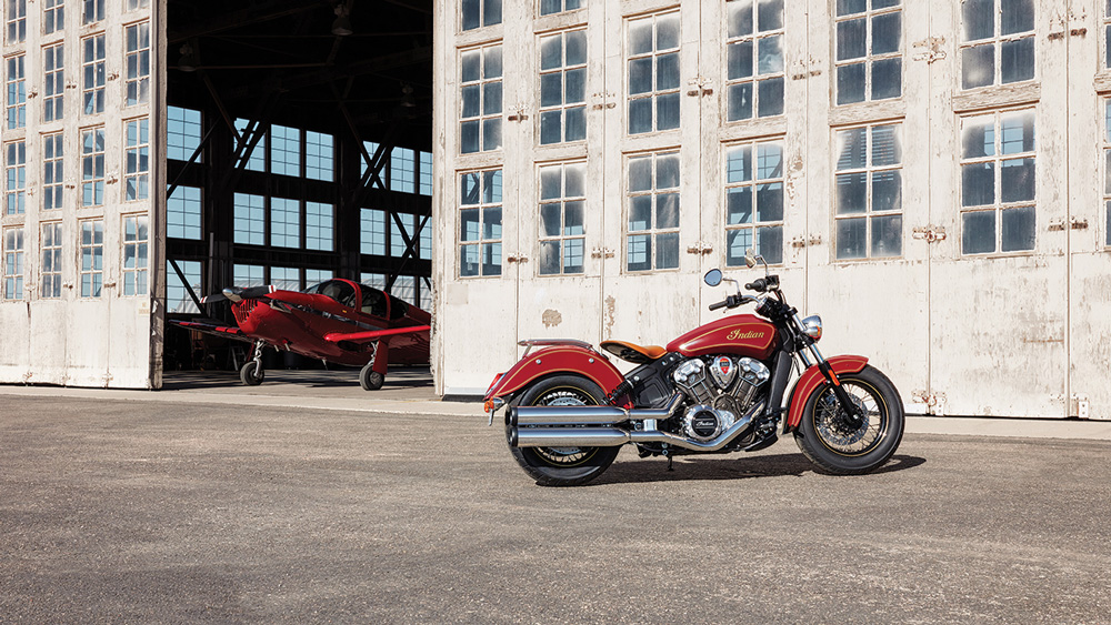 The Indian Scout 100th Anniversary Edition.