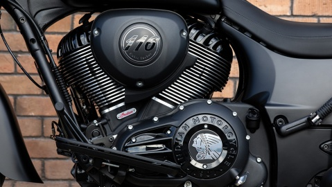 The 2020 Indian Springfield Dark Horse motorcycle.