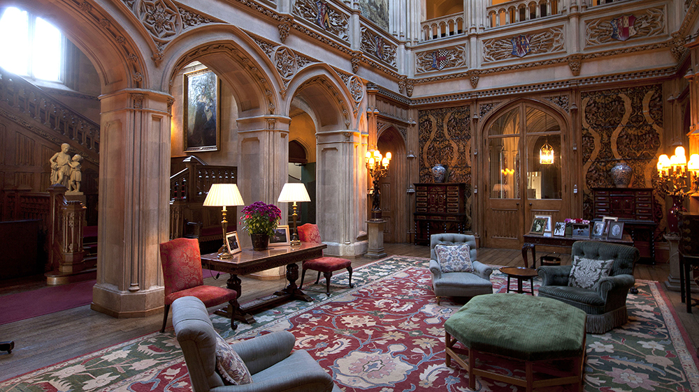 The salon in Highclere Castle from Downton Abbey