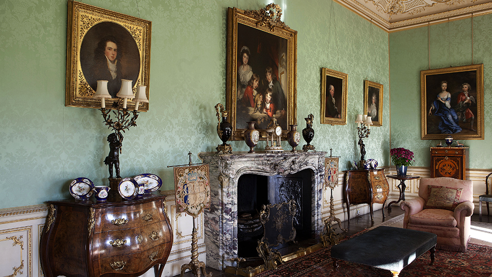 The drawing room in Highclere Castle from Downton Abbey