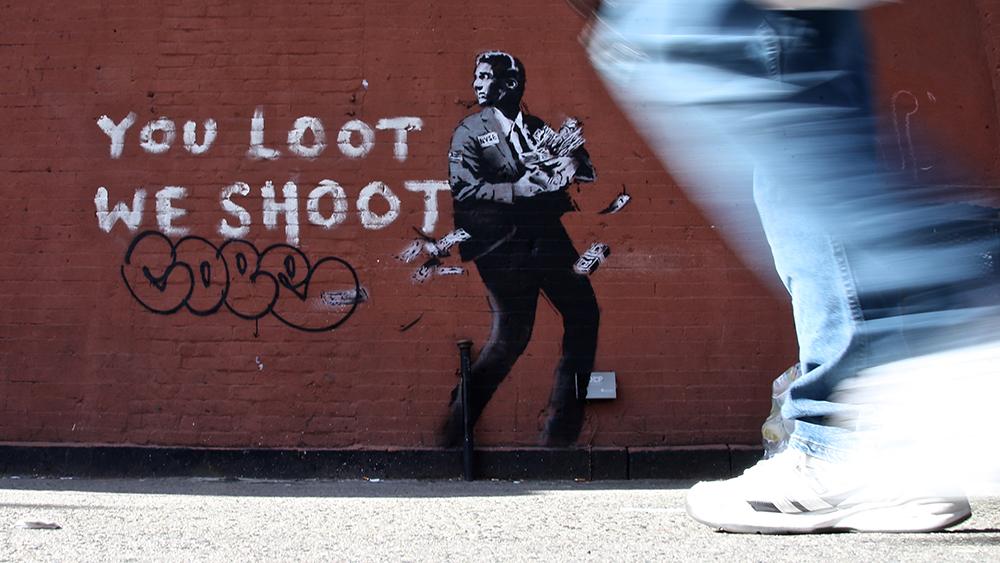 Banksy art appears in HarlemBanksy NYC Residency, New York, USA - 19 Mar 2018