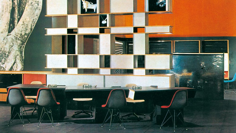 Air France office, London 1957, with pieces by Perriand and other designers