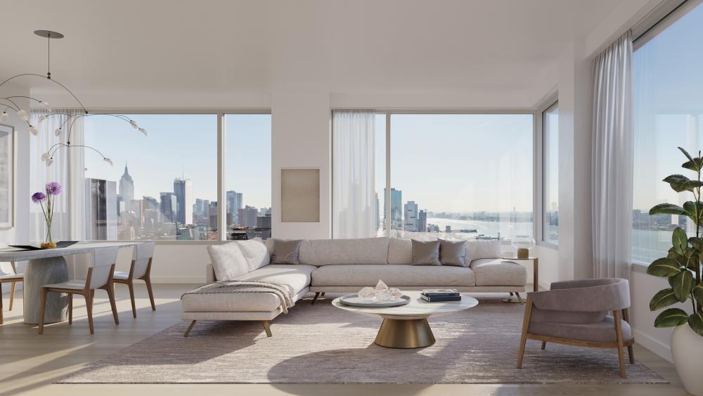 A residence's living room.