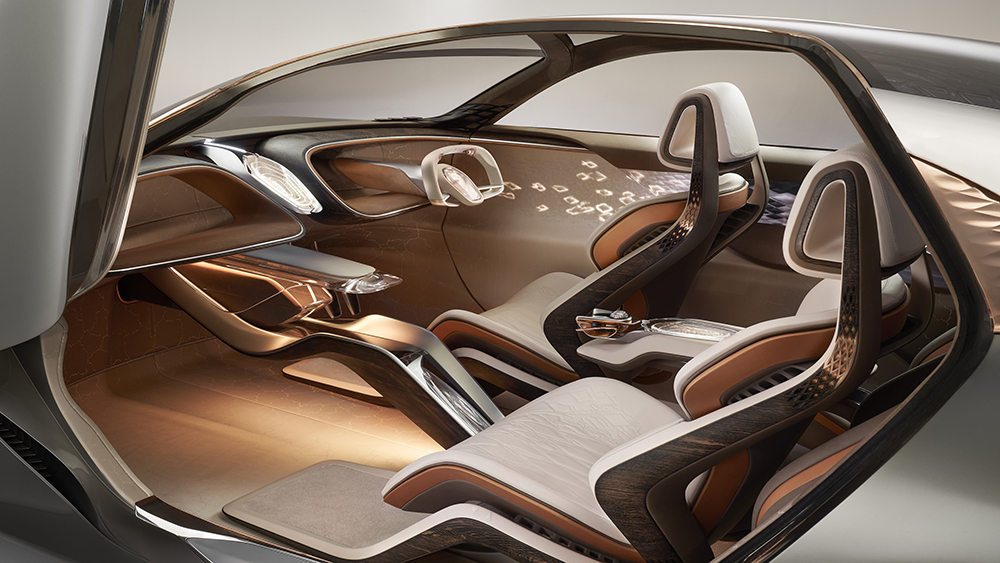Bentley EXP 100 GT concept with Cumbria Crystal AI console